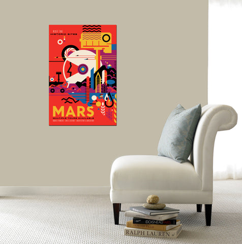 "Epic Graffiti Visions of the Future: Mars Acrylic Wall Art, 20"" x 28"""