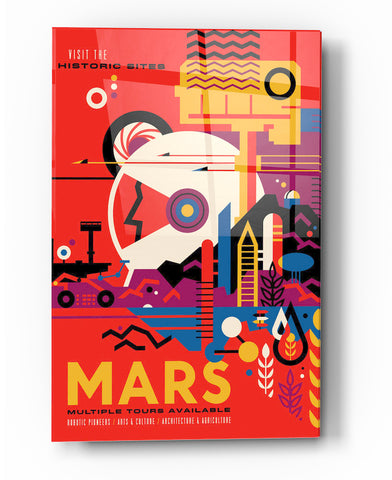 "Image of Epic Graffiti Visions of the Future: Mars Acrylic Wall Art, 20"" x 28"""