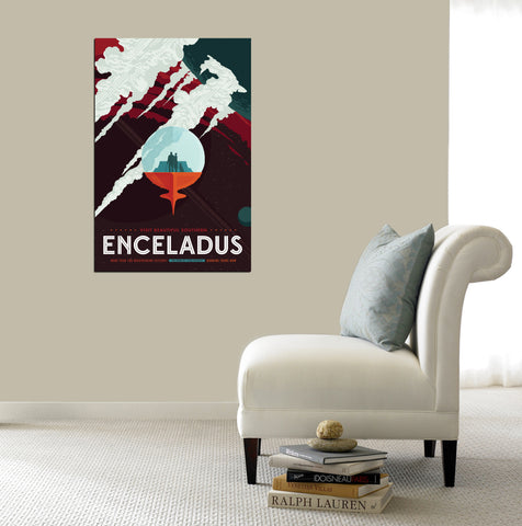 "Epic Graffiti Visions of the Future: Enceladus Acrylic Wall Art, 20"" x 28"""