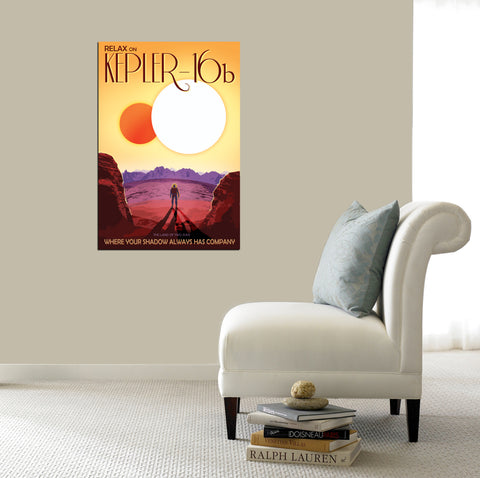 "Epic Graffiti Visions of the Future: Kepler-16b Acrylic Wall Art, 20"" x 28"""