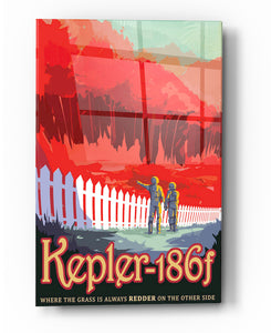 "Epic Graffiti Visions of the Future: Kepler-186f Acrylic Wall Art, 20"" x 28"""