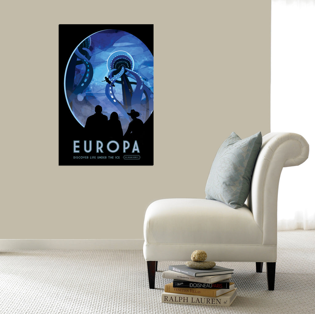"Epic Graffiti Visions of the Future: Europa Acrylic Wall Art, 20"" x 28"""