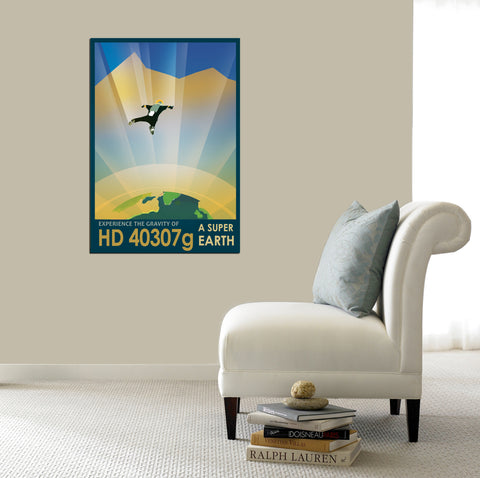"Epic Graffiti Visions of the Future: HD 40307g Acrylic Wall Art, 20"" x 28"""