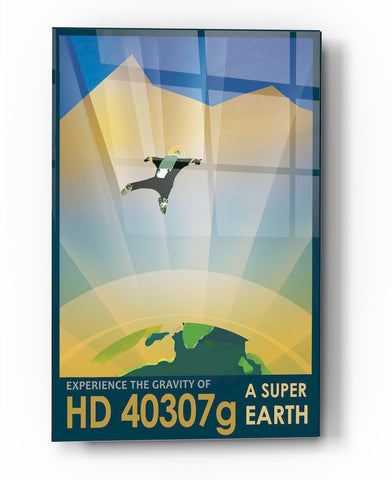 "Image of Epic Graffiti Visions of the Future: HD 40307g Acrylic Wall Art, 20"" x 28"""