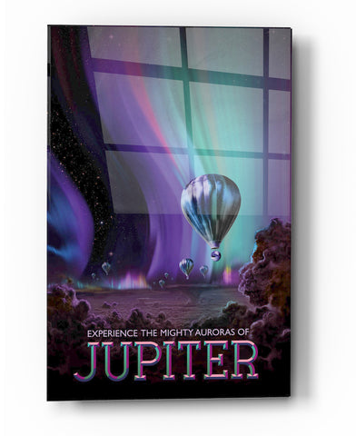 "Epic Graffiti Visions of the Future: Jupiter Acrylic Wall Art, 20"" x 28"""