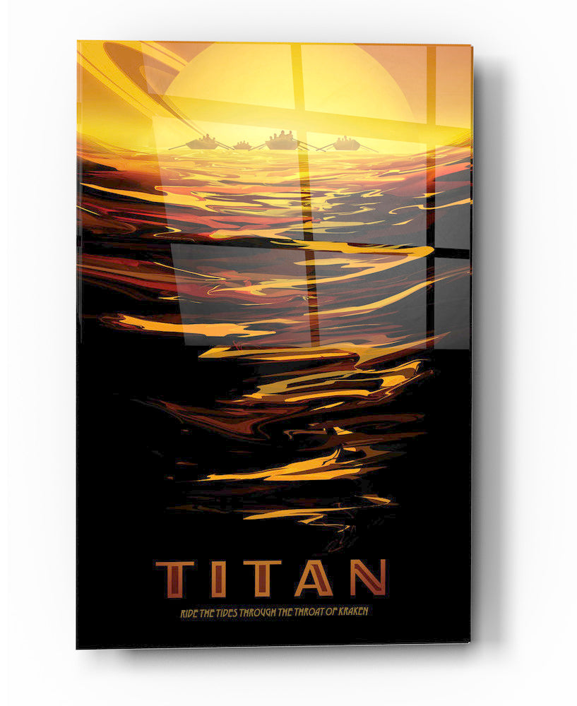 "Epic Graffiti Visions of the Future: Titan Acrylic Wall Art, 20"" x 28"""