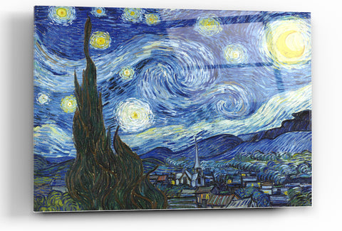"Image of Epic Graffiti ""Starry Night"" by Vincent van Gogh in High Gloss Acrylic Wall Art, 30"" x 40"""