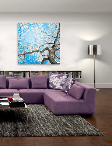 "Epic Graffiti ""Overhead Freeze"" on a High Gloss Acrylic Wall Art, 32"" x 32"""