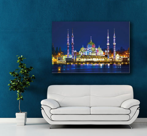 "Image of Epic Graffiti ""Crystal Mosque"" High Gloss Acrylic Wall Art, 48"" x 32"""