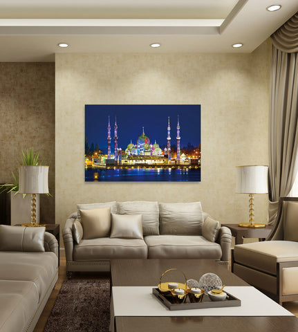 "Epic Graffiti ""Crystal Mosque"" High Gloss Acrylic Wall Art, 48"" x 32"""