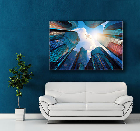 "Image of Epic Graffiti ""Above the Clouds"" Acrylic Wall Art, 48"" x 32"""