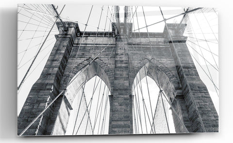 "Image of Epic Graffiti ""Brooklyn Bridge"" High Gloss Acrylic Wall Art, 48"" x 32"""