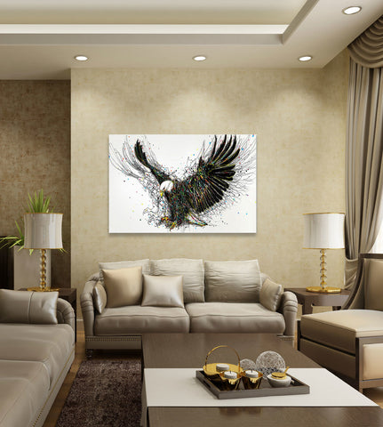 "Image of Epic Graffiti ""Americana"" High Gloss Acrylic Wall Art, 48"" x 32"""