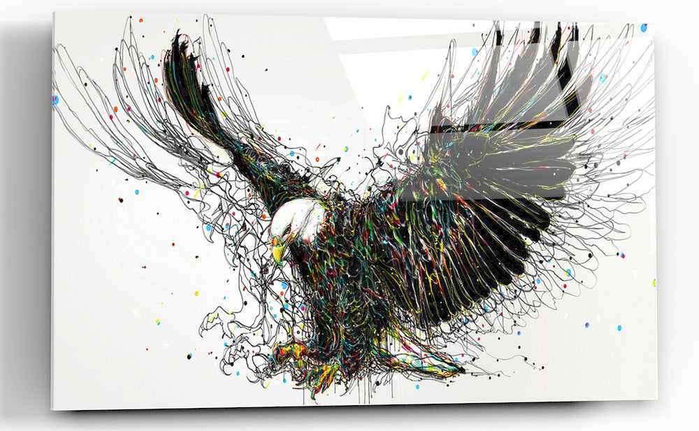 "Epic Graffiti ""Americana"" High Gloss Acrylic Wall Art, 48"" x 32"""