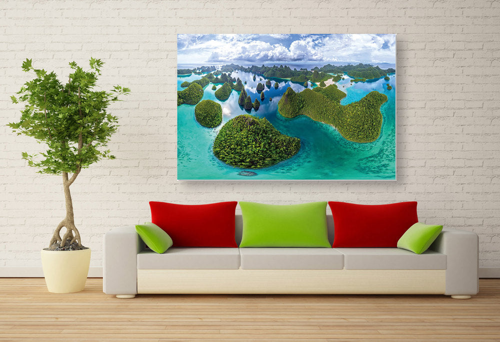 "Epic Graffiti ""Four Kings Archipelago"" High Gloss Acrylic Wall Art, 48"" x 32"""