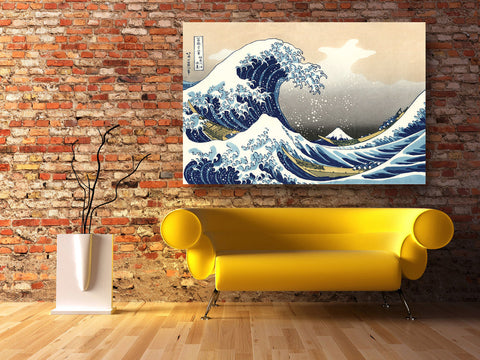 "Image of Epic Graffiti ""Great Wave off Kanagawa"" by Hokusai Glossy Acrylic Wall Art, 48"" x 32"""