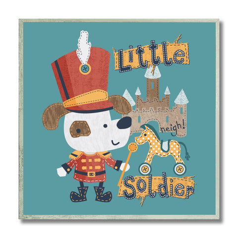 "Image of Epic Graffiti Little Soldier Kid's Framed Wall Art, 12"" x 12"""