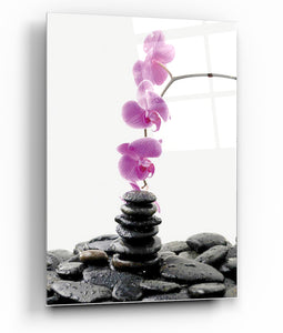 "Epic Graffiti Spa Rocks 3 Tempered Glass Wall Art, 13"" x 18"""