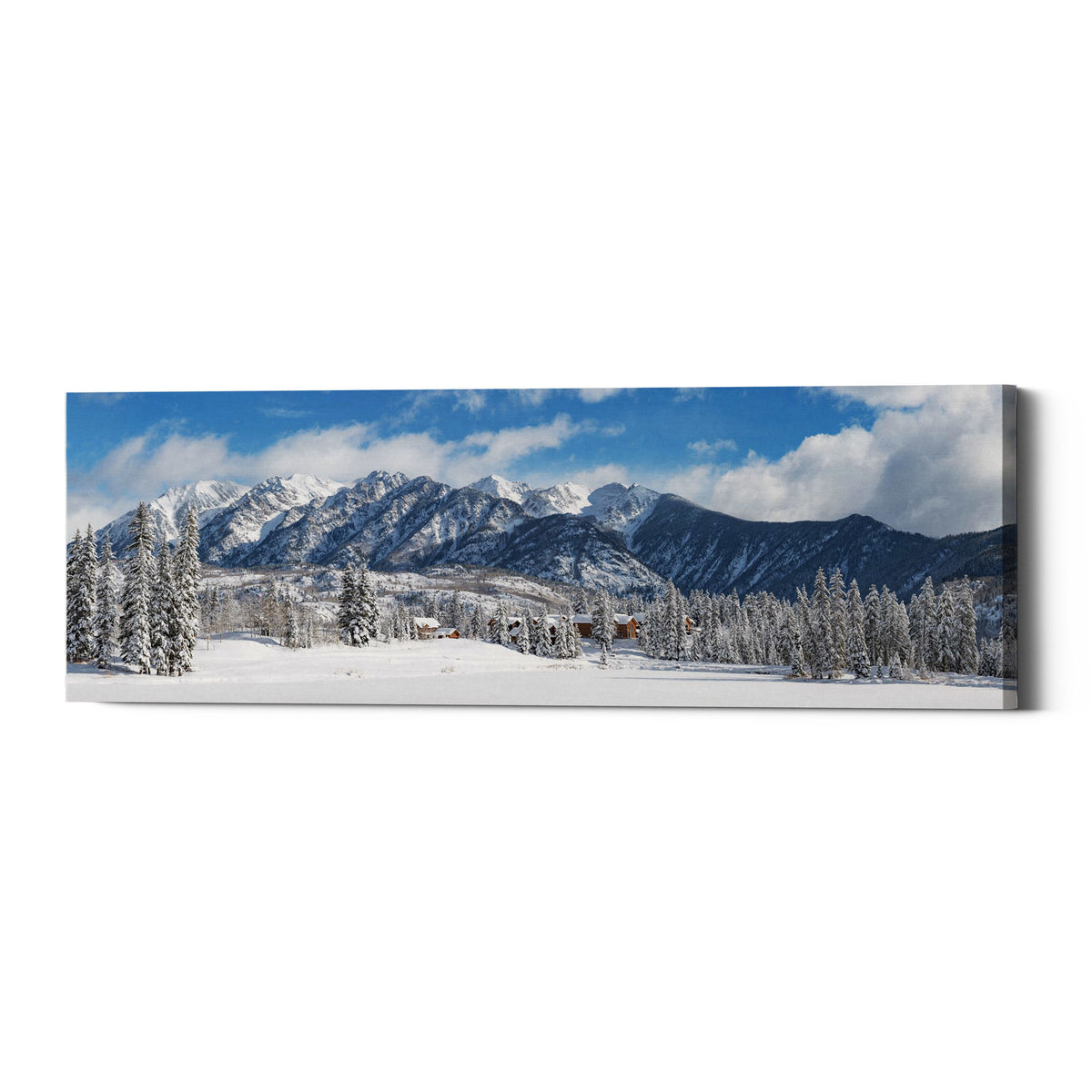 "Epic Graffiti ""Colorado Winter Wonderland"" by Darren White, Giclee Canvas Wall Art"