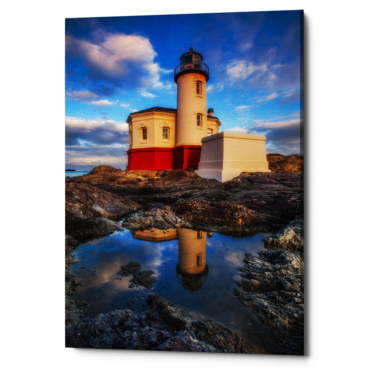 "Epic Graffiti ""Coquille Lighthouse"" by Darren White, Giclee Canvas Wall Art"