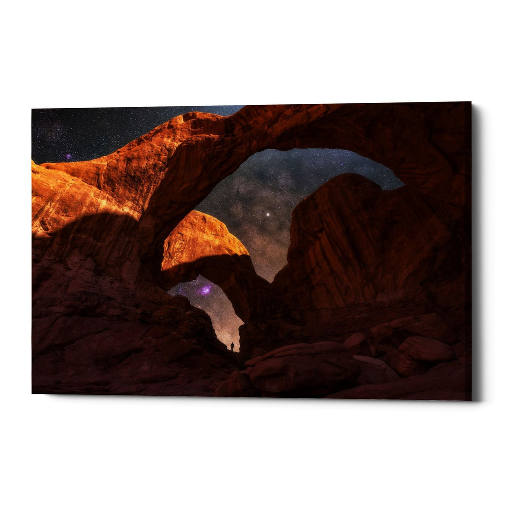 "Epic Graffiti ""Explore The Night"" by Darren White, Giclee Canvas Wall Art"