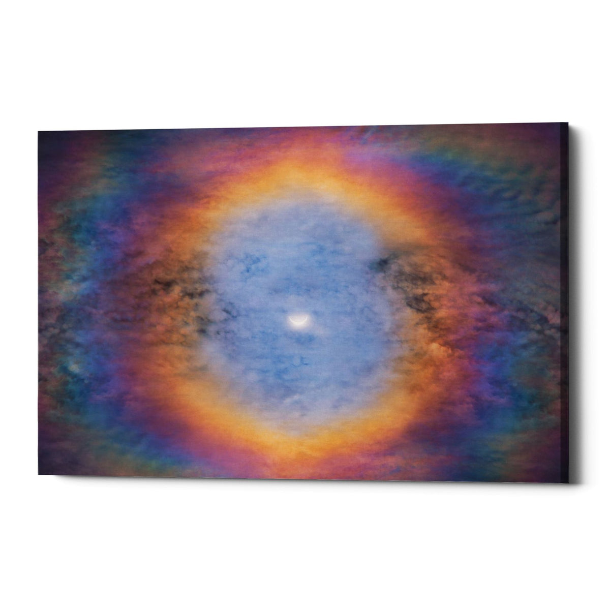 "Epic Graffiti ""Eye of the Eclipse"" by Darren White, Giclee Canvas Wall Art"