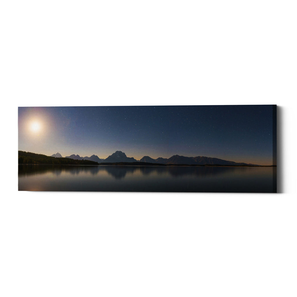"Epic Graffiti ""Jackson Lake Moon"" by Darren White, Giclee Canvas Wall Art"