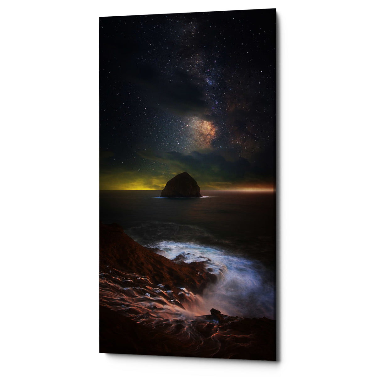 "Epic Graffiti ""Kiwanda Skies"" by Darren White, Giclee Canvas Wall Art"