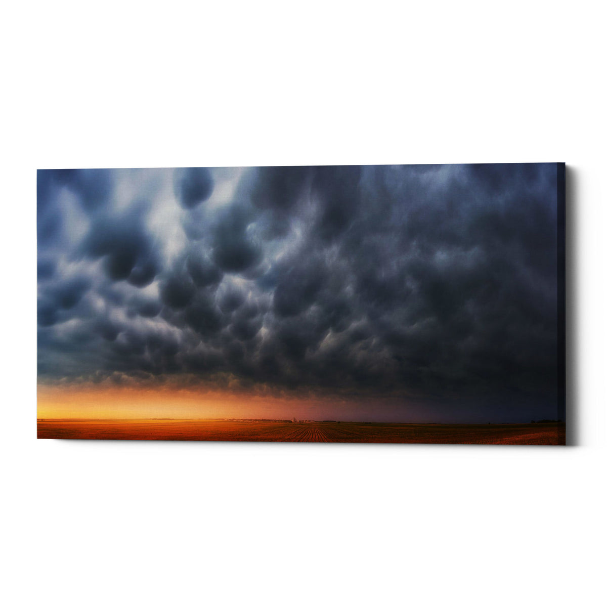 "Epic Graffiti ""Mammatus Over Madrid"" by Darren White, Giclee Canvas Wall Art"