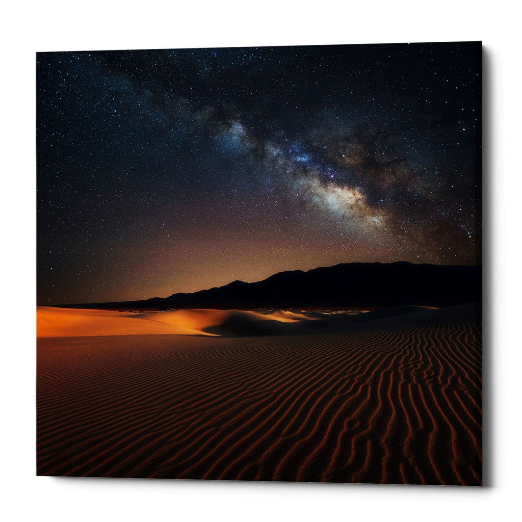 "Epic Graffiti ""Milky Way Over Mesquite Dunes"" by Darren White, Giclee Canvas Wall Art"
