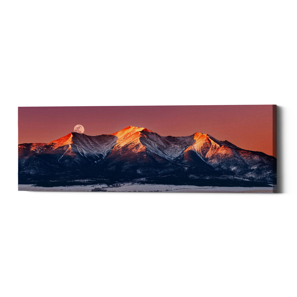 "Epic Graffiti ""Mount Princeton Moonset"" by Darren White, Giclee Canvas Wall Art"