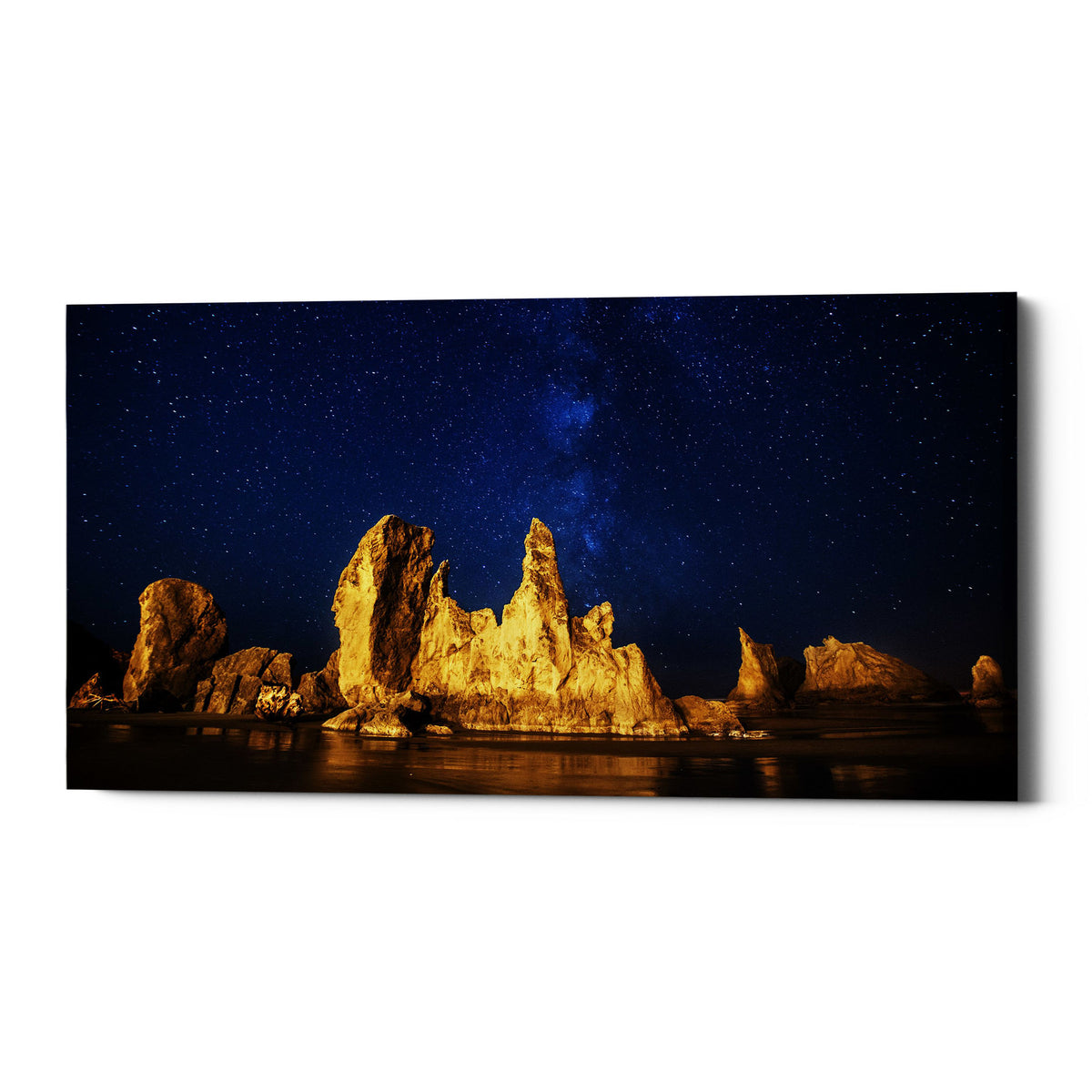 "Epic Graffiti ""Oregon Nights"" by Darren White, Giclee Canvas Wall Art"