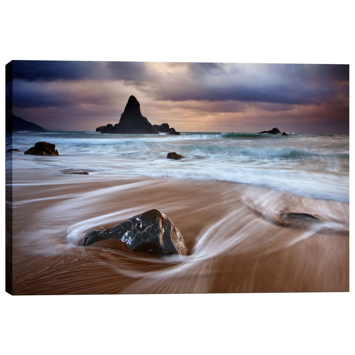 "Epic Graffiti ""Port Orford Morning Storm"" by Darren White, Giclee Canvas Wall Art"