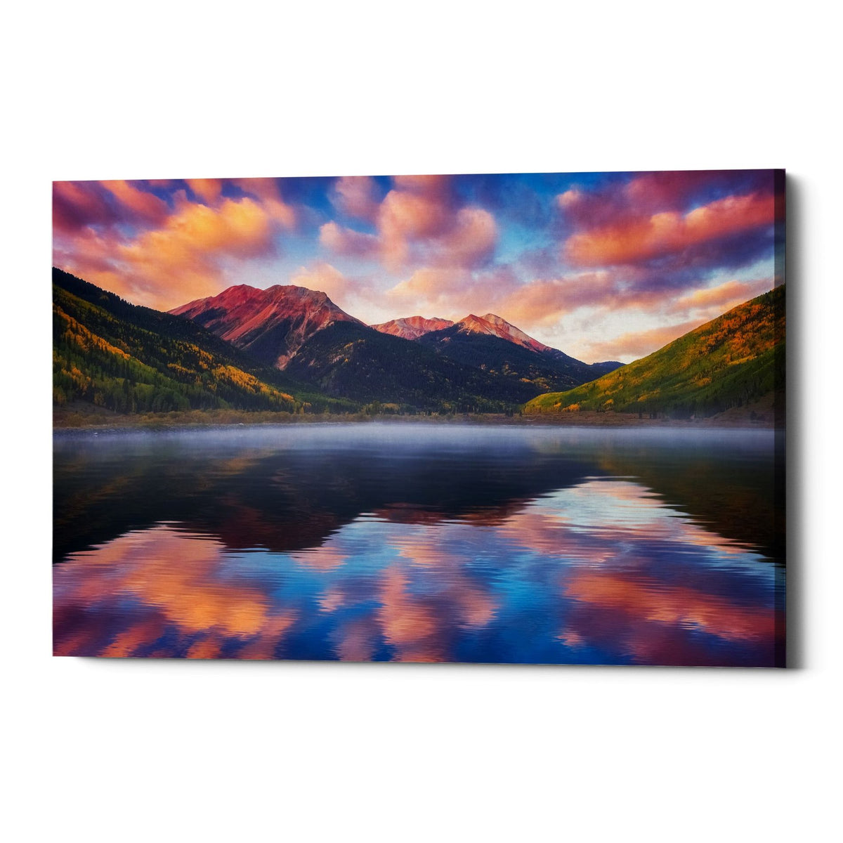 "Epic Graffiti ""Red Mountain Reflections"" by Darren White, Giclee Canvas Wall Art"