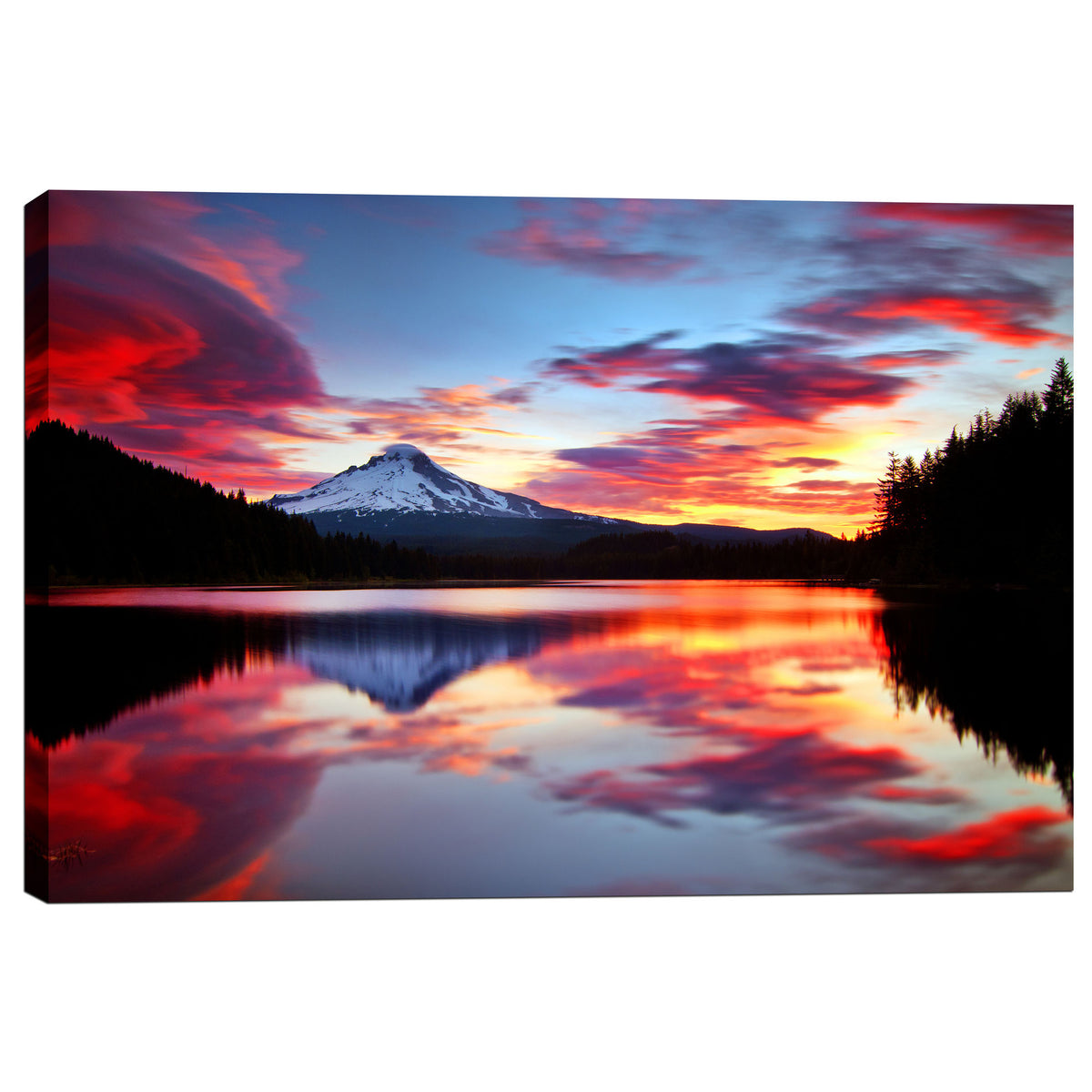 "Epic Graffiti ""Sunrise on the Lake"" by Darren White, Giclee Canvas Wall Art"