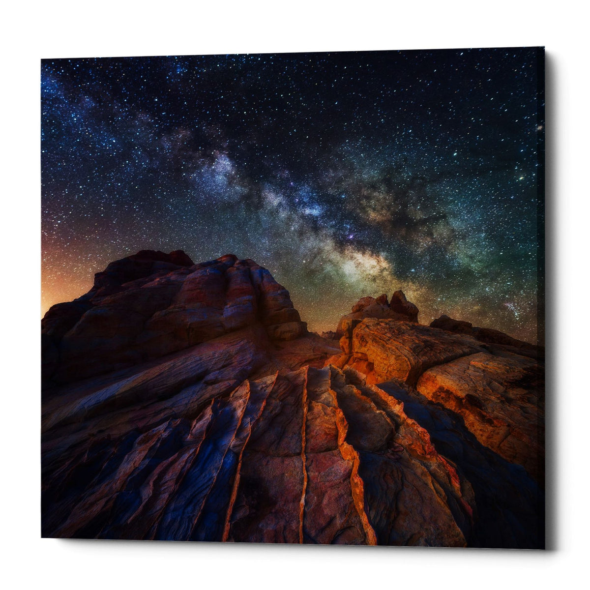 "Epic Graffiti ""The Martian Landscape"" by Darren White, Giclee Canvas Wall Art"