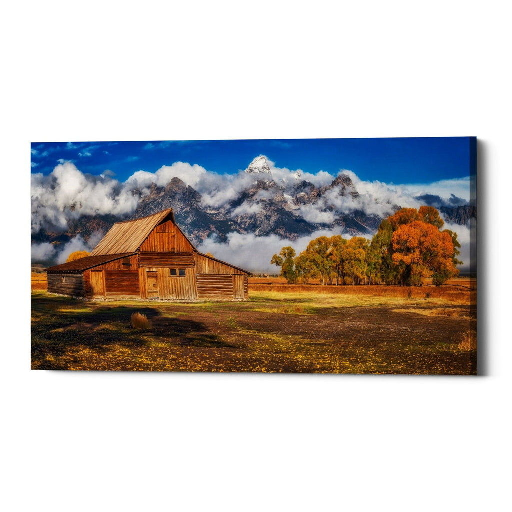 "Epic Graffiti ""Warm Morning Light in the Tetons"" by Darren White, Giclee Canvas Wall Art"