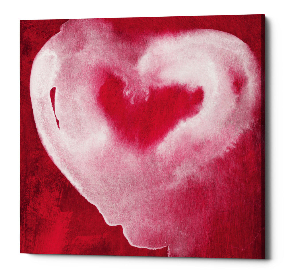 "Epic Graffiti ""Hot Pink Heart"" by Linda Woods, Giclee Canvas Wall Art"