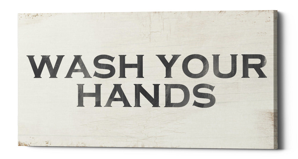 "Epic Graffiti ""Wash Your Hands"" by Linda Woods, Giclee Canvas Wall Art"