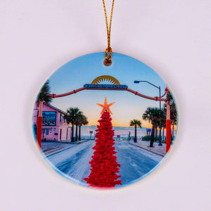 2020 Flagler Avenue Limited Edition Round Ornament with Pink Christmas Tree