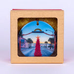 2020 Flagler Avenue Limited Edition Round  Ornament with Pink Christmas Tree in Red and Gold Box