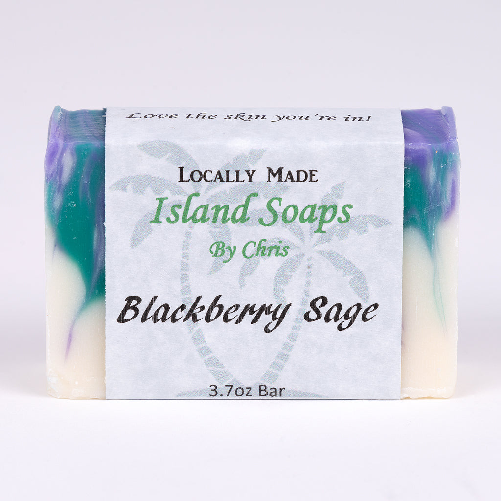Handmade Local Soap-Blackberry Sage (3.7 oz)