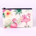 Small Zipper Pouch with Flamingos and Flowers