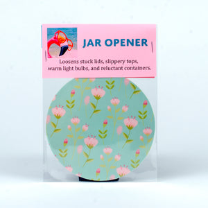 Rubber Jar Opener with Pink Flowers