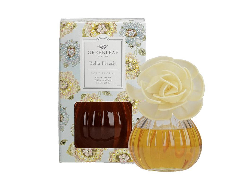 Flower Diffuser in a beautiful Glass Container (Fragrance: Bella Freesia)