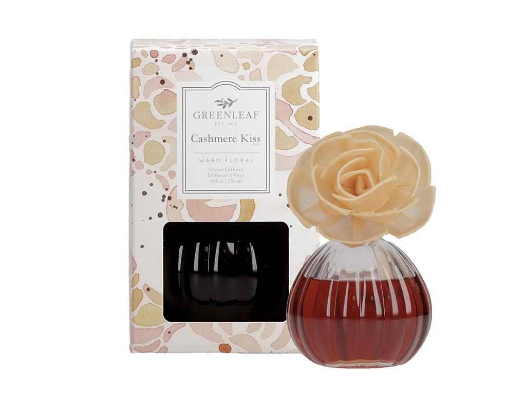 Flower Diffuser in a beautiful Glass Container (Fragrance: Cashmere Kiss)