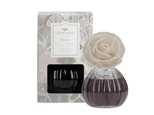 Flower Diffuser in a beautiful Glass Container (Fragrance: Haven)