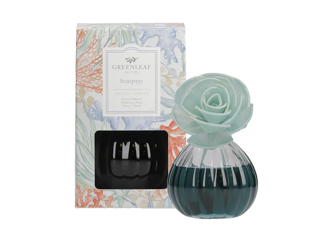 Flower Diffuser in a beautiful Glass Container (Fragrance: SeaSpray)