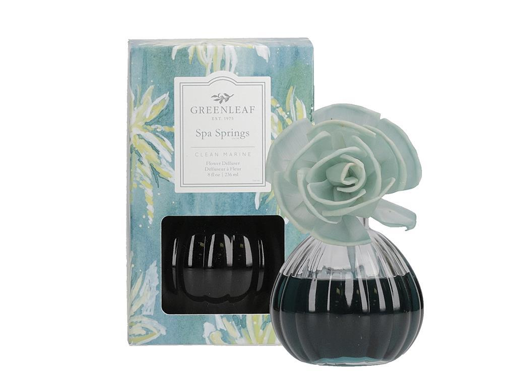 Flower Diffuser in a beautiful Glass Container (Fragrance: Spa Springs)