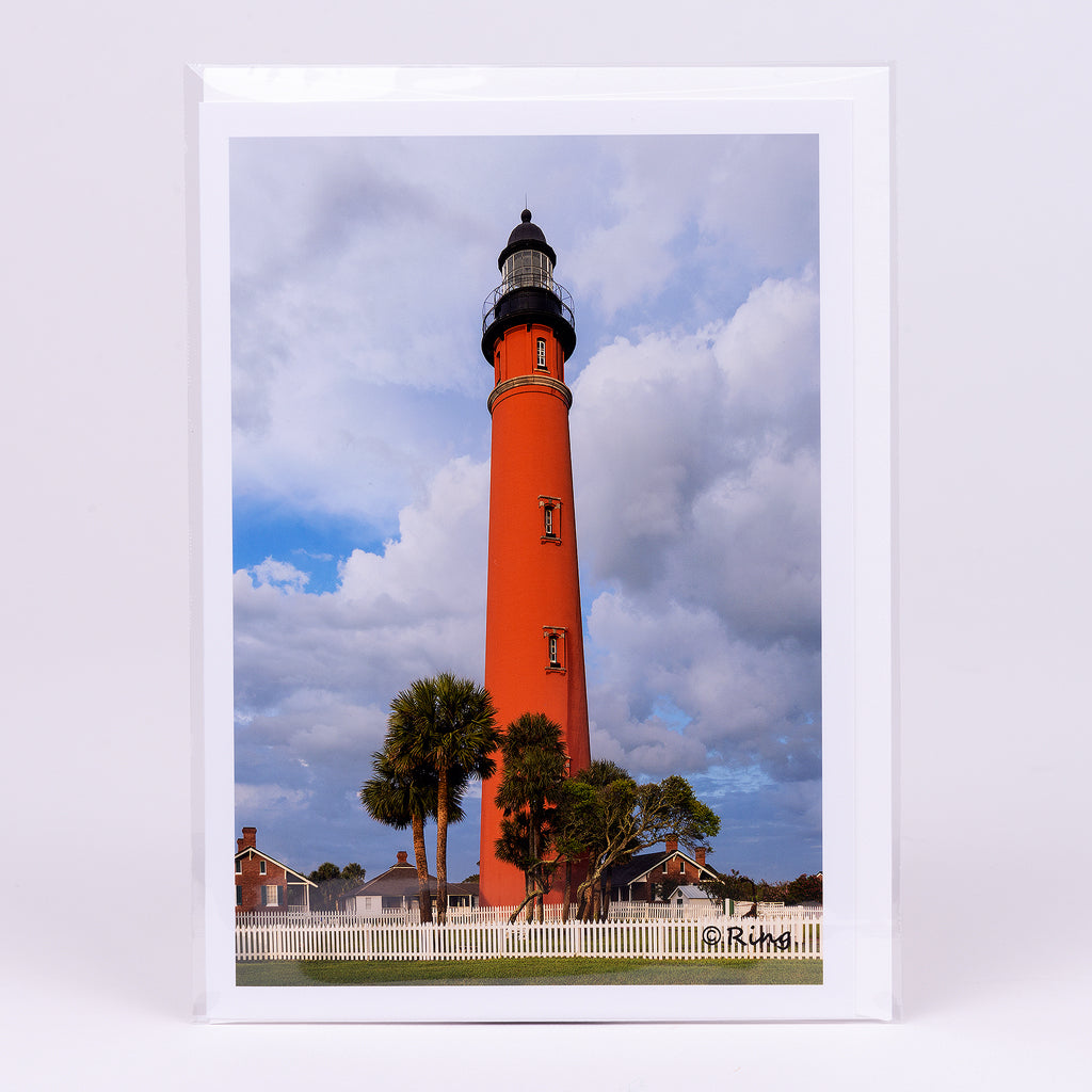 Close Up View of the Ponce Inlet Lighthouse Photographic Notecard